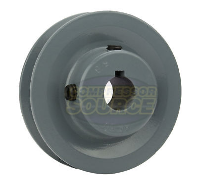 3 Cast Iron 58 Shaft Pulley Sheave Single 1 Groove V Style A Belt 4l New
