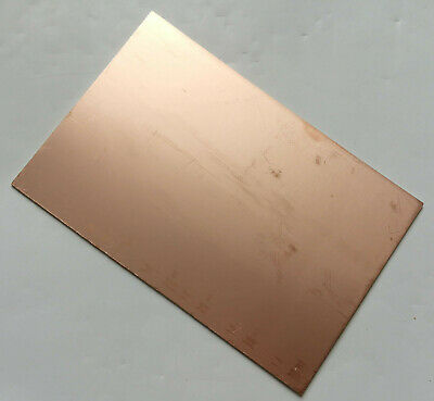 Single Sided Copper Sheet Plate Guillotine Cut Fr-4 Copper Clad Pcb 10x15cm A