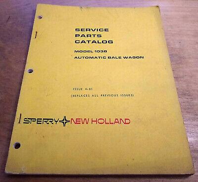 New Holland 1038 Balewagon Parts Manual Bale Wagon Nh