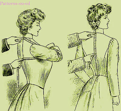 Edwardian Schorr DRESSMAKER Costume SEWING PATTERN cd