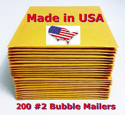 200 2 8.5x12 Bubble Mailers Padded Envelopes Bags 8.5 X 12 Usa Free Shipping