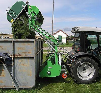 Collection Flail Mower Peruzzo Koala 1600 60 Cut 32cu Cap Hi-lift Dump