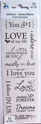 Momenta Vellum Stickers Romance Love  New