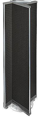 Pinwheel Pegboard Floor Display In Black 13.5w X 60h Inches