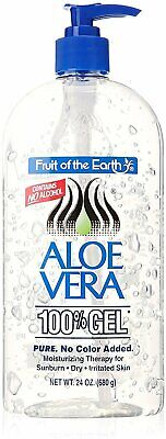 Fruit of the Earth Aloe Vera 100% Gel Pump Bottle Alcohol Free 24 Ounce, 1 Pack ()