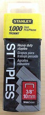 Heavy Duty Wide Crown Staples - Stanley 3/8