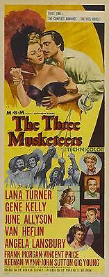 THE THREE MUSKETEERS Movie POSTER 14x36 Insert