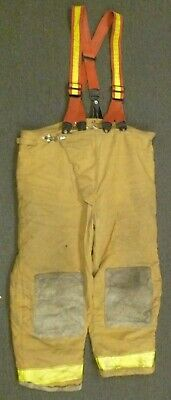 48x32 Globe Tan Firefighter Pants W Suspenders Turnout Bunker Fire Gear P104