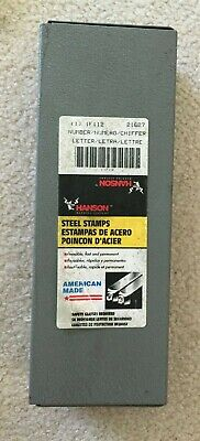 Hanson 21627 Steel Stamps - Letter And Number Set
