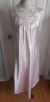 Long Sleeveless Nightgown (EUC PINK w/EMBROIDERY ADONNA LONG SLEEVELESS NIGHTGOWN IN SIZE XL )