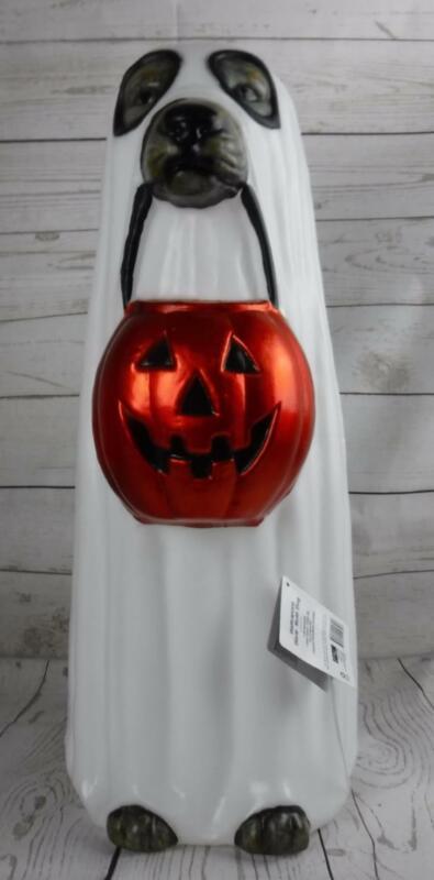 Ghost Dog Halloween Blow Mold Pumpkin