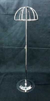 Adjustable Height Tabletop Silver Metal Wire Hatwig Stand Hatswig Display Ball