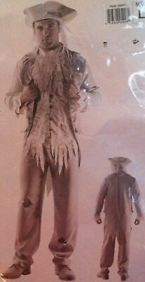 Starline Ghostly Gentleman Full Costume Mens Size Large Haunted Dead Ghost New