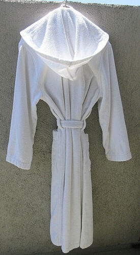 """VINTAGE COLLECTIBLE HOTEL BEL AIR SWAN 49"""" HOODED PLUSH COTTON TERRY BATH ROBE"""