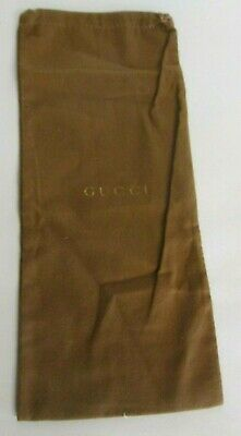 "Vintage Gucci Brown Shoe Dust Bag With A Draw String 6.5"" x 15"""