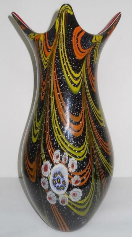 Murano Green Vase Art Glass Ebay