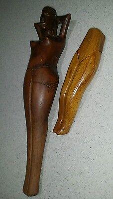 Set of 2 Vintage Naughty Naked Ladies Nutcrackers Man Cave