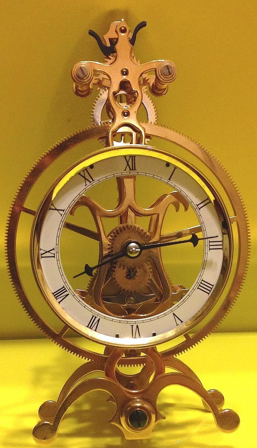 Great Wheel mini Skeleton Clock Kit--Assemble Your Own Skeleton Clock