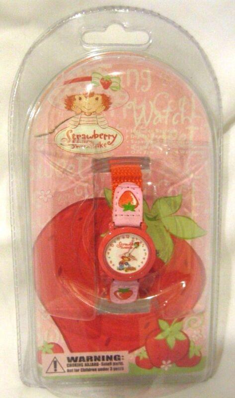 Strawberry Shortcake Character Analog Watch with Nylon Wrist Band-Brand New!