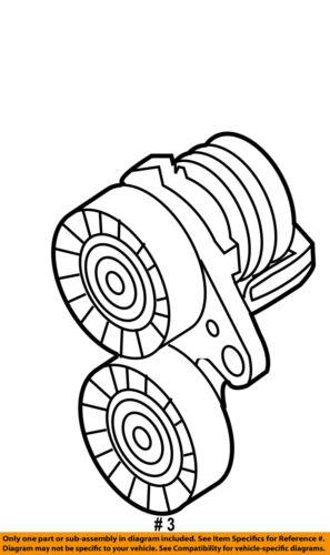 Bmw Oem 07 10 X5 Serpentine Drive Fan Belt Tensioner 11287565225