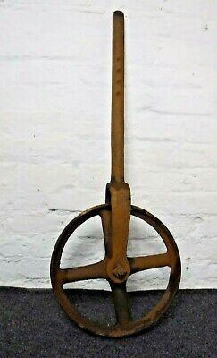 Vintage Cast Iron Wheel (645P)