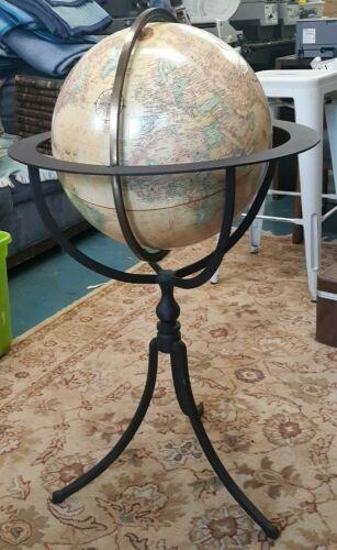"""NICE REPLOGLE GLOBE 16"""" DIAMETER World Classic Series Globe Wrought Iron Stand"""