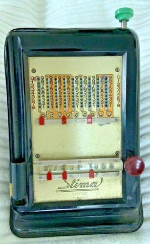 Antique USA patent bakelite calculator machine Stima adding cash register