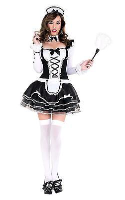 Music Legs Pretty And Proper French Maid Long Sleeve Halloween Costume 70645](Musical Halloween Costumes)
