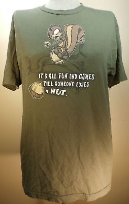 Mens Clothing FASHION Tee Shirt Its All Fun Games Till Someone Loses A Nut