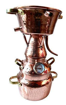 2-Liter Alquitara mit Thermometer zur Herstellung ätherischer Öle - Destille 2L