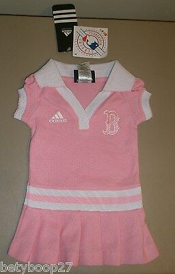 Boston Red Sox Adidas Baby Girl PINK Cheerleader Dress 0-3M 12M 18M 24M 2T 3T