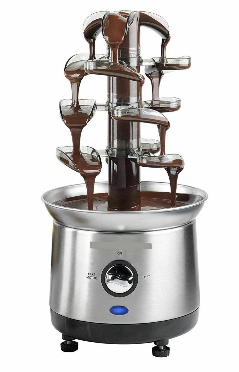 Chocolate Fountain Machine 4 Tier Stainless Steel Luxury Che