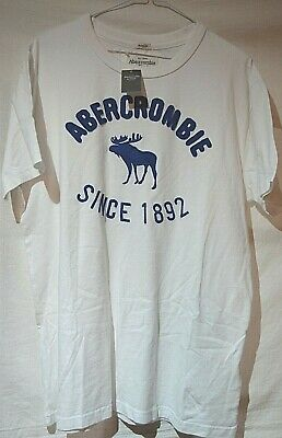 ABERCROMBIE & FITCH ~MUSCLE~ SMART DESIGNER FITTED WHITE POLO SHIRT XXL