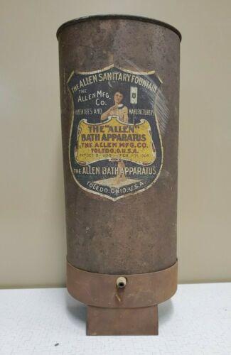 Antique THE ALLEN SANITARY FOUNTAIN, The Allen Bath Apparatus
