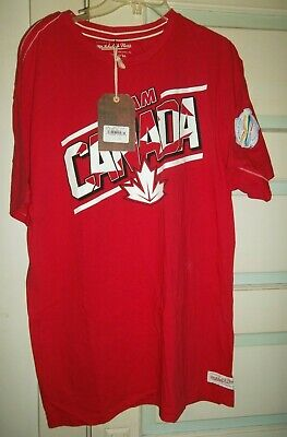 TEAM CANADA/2016 WORLD CUP OF HOCKEY T-SHIRT-MITCHELL & NESS XXL RED-WHITE/NWT!! (Team Canada Hockey-t-shirt)