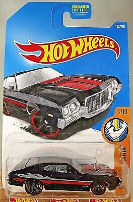 2016 Hot Wheels #122 Muscle Mania 2/10 72 FORD GRAN TORINO SPORT Black w/BlkMC5s