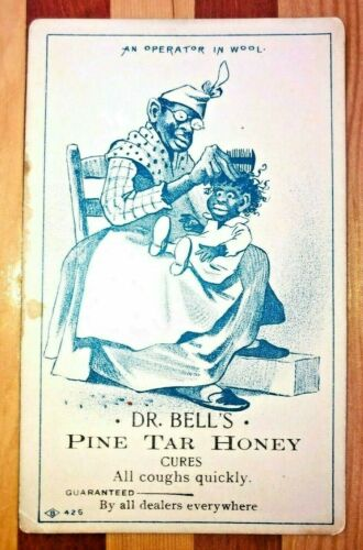 1900s Advertising Card BLACK AMERICANA DR. BELL