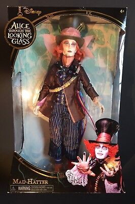 Mad Hatter Alice in Wonderland Through the Looking Glass Disney Collectors Doll
