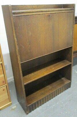 Vintage Bureau, Dark Wood Veneer, Antique, 76cm wide x 113cm high