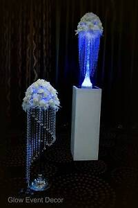 Chandelier table centrepieces with LED lighting for hire Onkaparinga Hills Morphett Vale Area Preview