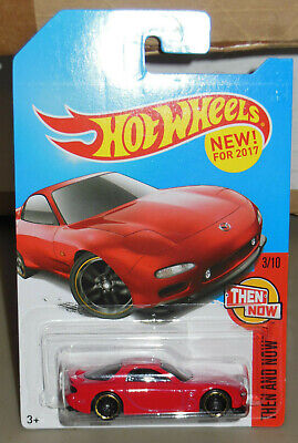 HOT WHEELS 95 Mazda RX7 RED Then and Now 2/10 Kmart