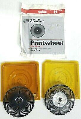 Vtg Typewriter Printwheel Smith Corona Daisy Wheel Lot Micro 15 Script Regency