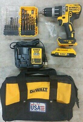 Dewalt 20v Max Xr 12 Hammer Drill Kit W 2.0ah Battery Bit Set Model Dcd796