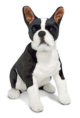 Melissa & Doug Giant Boston Terrier - Lifelike Stuffed Anima
