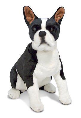 Melissa  Doug Giant Boston Terrier - Lifelike Stuffed Animal Dog