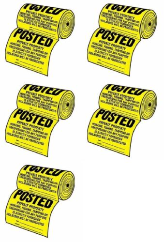 Tyvek TSR-100 Posted Private Property No Tresspassing Sign 500 Count 5 Rolls