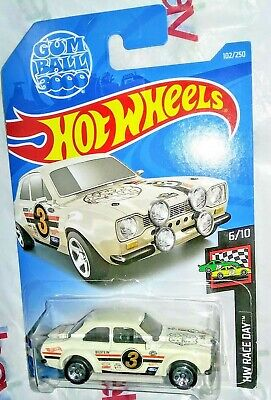 GUMBALL 3000 70 FORD ESCORT RS 1600 HOT WHEELS HTF RACE DAY CAR - $2.99