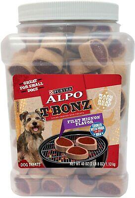 Purina Alpo T-Bonz Filet Mignon Flavor Dog Treats with Real Beef 1.13kg Canister Filet Mignon Flavor