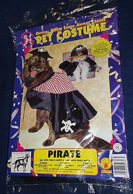 Halloween Pet Costume PIRATE for SMALL Dogs & Cats (10-12