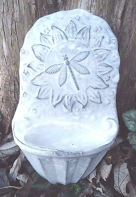 Dragonfly water dish bird feeder mold plaster concrete mould
